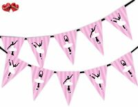 Ballerina in Dance Ballet Themed Bunting Banner 15 flags by PARTY DECOR