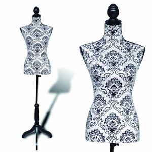 Dressmaker Dummy Female Dress Form With Stand Woman Bust Display Torso Mannequin