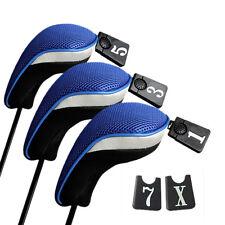 3x Golf Club Head Covers 1 3 5 Fairway Wood Driver Interchangeable Set BlacPYB