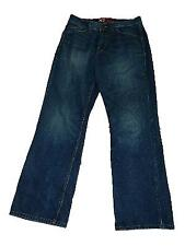 Mens X2 M42 Loose Boot Cut Regular Rise Blue Jeans Distressed sz 32 X 32