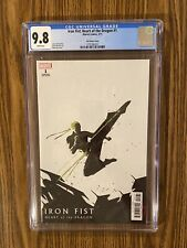 Iron Fist: Heart of the Dragon #1 Aja Variant Cover CGC 9.8 🔥 🔑 🔥
