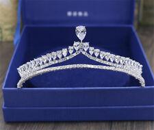 Vintage Wedding Bridal Tiara Princess Crown Zircon Crystal Hair Accessories Band