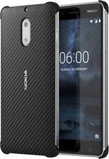 Nokia 6 Pochette de protection original coupe parfaite Carbone Fibre Design étui
