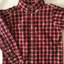 Ralph Lauren Polo shirt size 4 4T Boys Plaid dress top Red White L/S Button Down