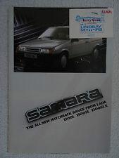 Lada Samara brochure 1987 - 1300L, 1300SL, 1300SLX models