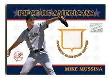 2003 Topps Bazooka Mike Mussina Yankees Piece of Americana Jersey PA-MM jh13