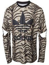 ADIDAS ORIGINALS JEREMY SCOTT JS Trefoil SLASH Tigre Camisa Para Hombres