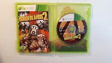 BORDERLANDS 2 Xbox 360 Complete CIB w/ Box, Manual - FAST FREE SHIPPING !!