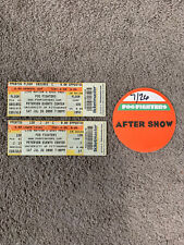 Foo Fighters Backstage Pass & Ticket Stubs