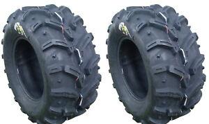Pair 2 Deestone Swamp Witch 22x11-9 ATV Tire Set 22x11x9 D932 22-11-9