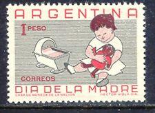ARGENTINIEN 1959 Muttertag 1P postfr. Kab.-Stück, ABART: fehlende Farbe Rotbraun
