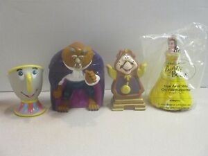 Pizza Hut 1992 Disney's Beauty and The Beast Hand Puppets - All 4 - LARGE SIZE