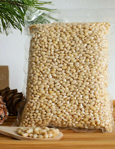 Organic Pine Nuts Fresh Raw Vacuumed Peeled Pinon nuts Pinoli Pignoli 200-800g