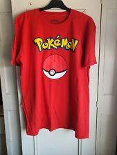 Pokemon Pokeball T Tee Tshirt Red XL yellow logo Nintendo