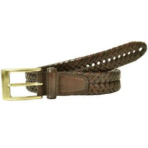 Dockers 11DO0403 Men's Leather Fully Adjustable Braided Belt