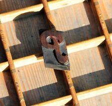 Letter P Rare Wood Type Letterpress Printing Block Woodtype Font Antique Print