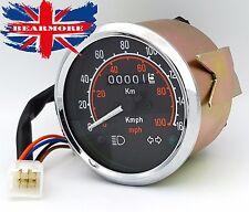 Universal Motorbike ATV Quad Speedometer Odometer 160/KMH 100MPH Gauge Clock