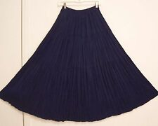 3 Tiered Dark BLUE Nice RAYON Hippie Peasant Broomstick Skirt S/M/L/OS