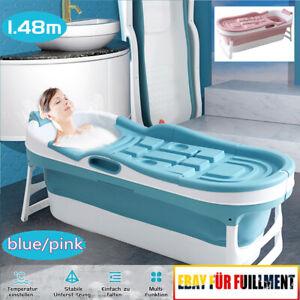 Verdickt Groß Faltbare Badewanne Freistehend Sauna Bad Faß für Erwachsene Kinder