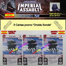 STAR WARS IMPERIAL ASSAULT 2018 TEMPORADA 2: 3 Droide Sonda ESPAÑOL OP KIT
