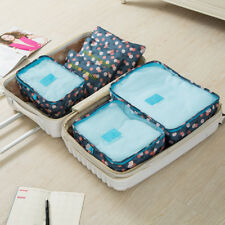 6pcs Waterproof Travel Bag Storage Luggage Organizer Pouch Packing Clothe Cubes