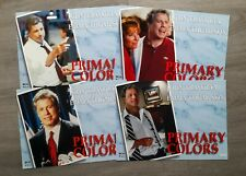 SET OF 8 CINEMA MOVIE LOBBY CARDS - PRIMARY COLORS - JOHN TRAVOLTA,EMMA THOMPSON