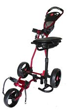 Founders Club Spider 3 Wheel Golf Push Cart with Seat - Red