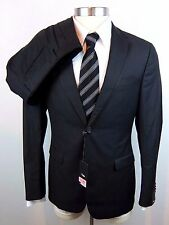 New Z ZEGNA Drop 8 Deco Black 2Btn Flat Front Tuxedo Suit 48 38 38R NWT $1645!
