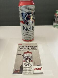 BUDWEISER  NELLY CAN Bottom Open&Window Sticker. St Louis Exclusive  2020 READ