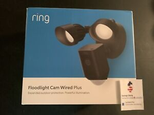 Ring Floodlight Camera Wired Plus Motion-Activated HD Security 2-Way Talk, Black