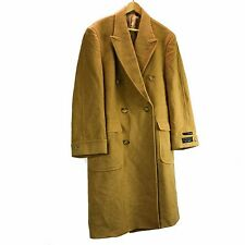 Jos A Bank Camel Hair Large Executive Brown Tan Beige Long Coat Trench Jacket