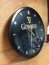 Guinness Time Glass Wall Clock 24'' ~ Metal & Glass ~ Authentic - NEW & F/Shipn.