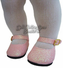 Pink Sparkle Glitter Shoes for Bitty Baby + Twins Doll Clothes