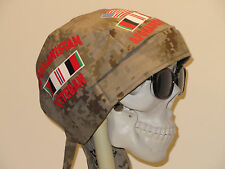 Afghanistan Veteran Skull Cap Do Rag w/Sweatband. MADE IN USA!!!
