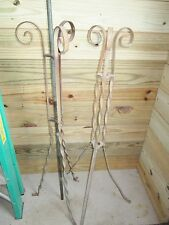 2 Antique Lightning Rod'S Scroll Stand's In Great Condition