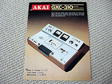 Akai GXC-310 Compact Cassette recorder brochure catalogue