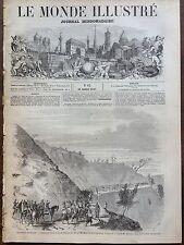 LE MONDE DIBUJADO 1857 NO 13 EN CABILIA LA ROUTE ESTRATÉGICO DE SIK- EL- MARZO