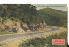 a beauty spot along highway, missouri the show me state postcard 1940s era