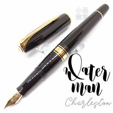 Wtaerman Special Edition Charleston Black Gold Trim 18K  Fountain Pen