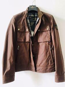 BELSTAFF RACEMASTER Jacket Small Waxed Biker Jacket brown coat BNWT