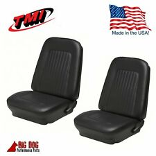 1967-68 Camaro Coupe Front Seat Upholstery in Black - IN STOCK
