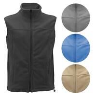 Men's Lightweight Warm Polar Fleece Jacket Full Zip-Up Collared Sweater Vest