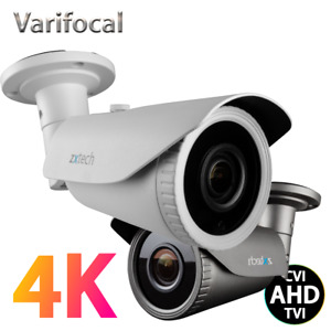 Zxtech 8MP 5MP Varifocal 2.8-12mm 60M Night Vision Analog AHD TVI CCTV Camera
