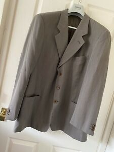 """Giorgio Armani Suit Wool Jacket MENS 2XL 46"""" Chest Xxl Made In Italy Designer"""