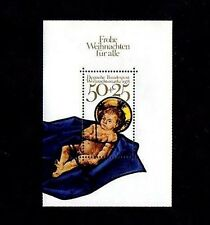GERMANY - 1978 - CHRISTMAS - CHRIST CHILD - STAINED GLASS - MINT S/SHEET!