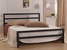 Time Living City Block Metal Bed Frame  - Black White Grey - Free Delivery