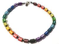 Bijou collier cylindres acier inoxydable Hand Made necklace idéal pour cadeau