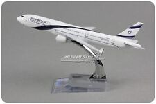 ISRAEL BOEING 777-200 Passenger Airplane Plane Metal Diecast Model Collection