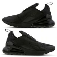 """Nike Air Max 270 """"All Black Everything"""" Men's Trainers Limited Stock All Sizes"""