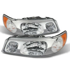 NEW 98-02 LINCOLN TOWNCAR HALOGEN HEADLIGHTS HEADLAMPS TOWN CAR PAIR SET